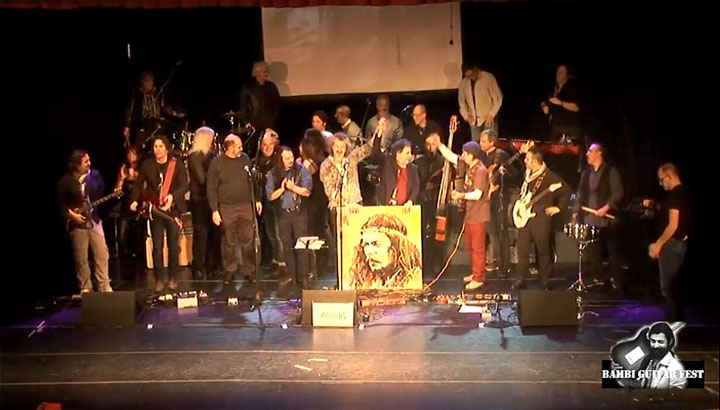 bambi fossati guitar fest dvd guitar fest genova bgf band picture from the video