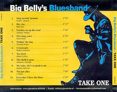 big belly's blues band cd take one tray
