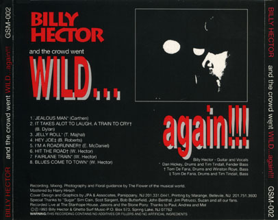 billy hector cd wild again tray