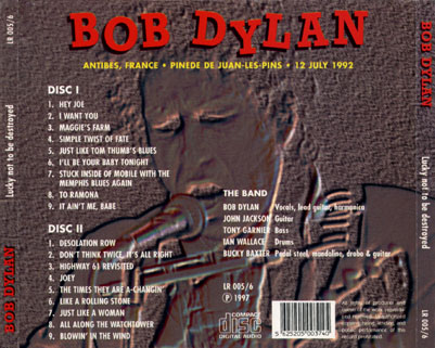 bob dylan cd lucky not be destroyed tray