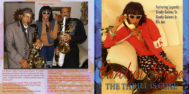 carolyn gaines cd the thrill is gone cover out