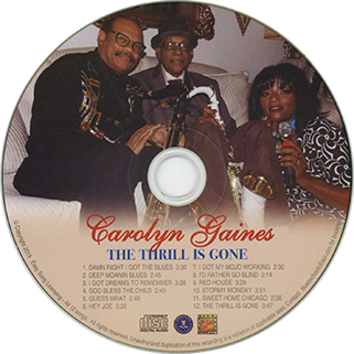 carolyn gaines cd the thrill is gone label