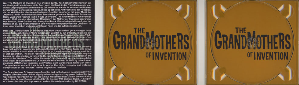 grandmothers of invention cd live in bremen cover in