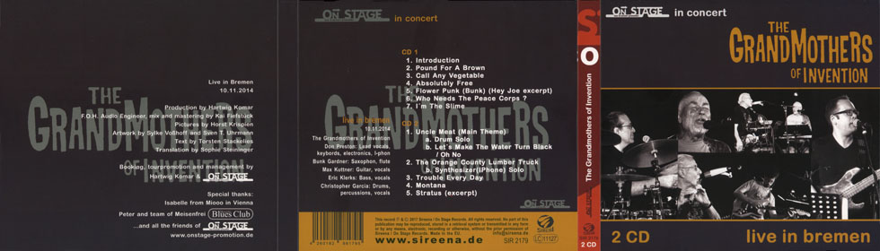 grandmothers of invention cd live in bremen cover out