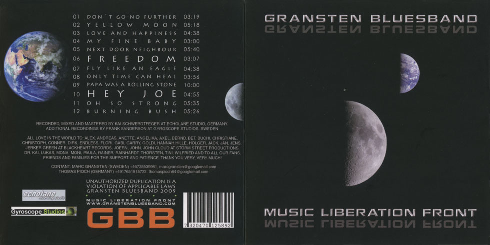 gransten blues band music liberation front cover out