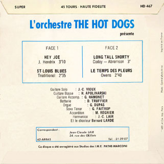 hot dogs back cover