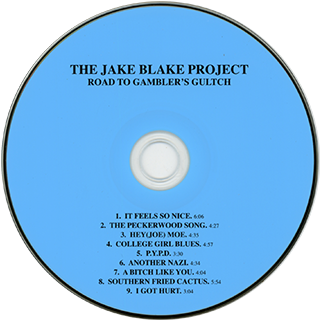 jake blake project cd to gambler's gultchlabel