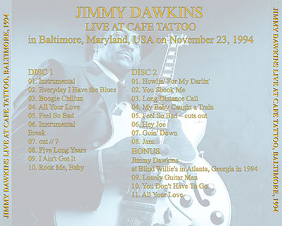 jimmy dawkins live at cafe tattoo tray