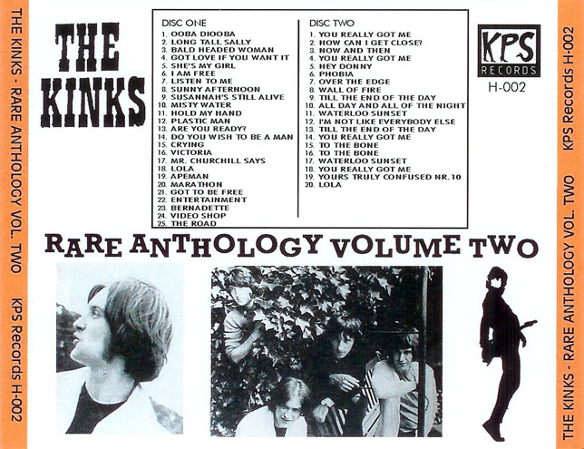 kinks cd rare anthology vol 2 trayout