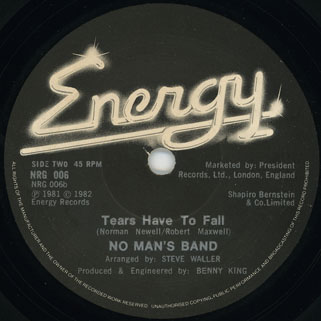 no man's band b side Tears are to fall