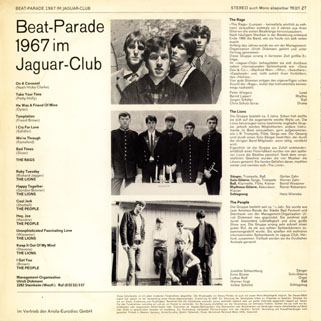 people lp beat parade 1967 back cover