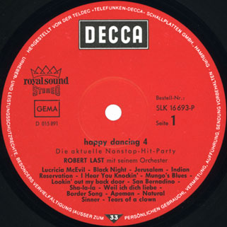 robert last happy dancing volume 4 die aktuelle non stop hits party label 1
