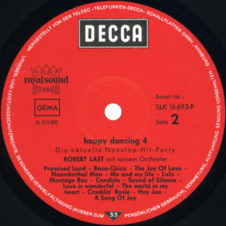 robert last happy dancing volume 4 die aktuelle non stop hits party label 2