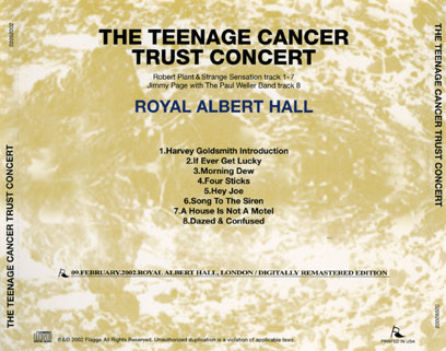 robert plant cd teenage cancer concert tray
