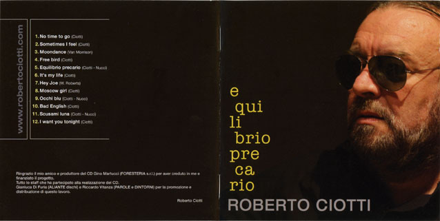 roberto ciotti cd equilibro precario sleeve out