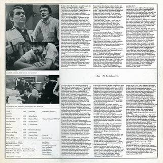 ron johnson trio lp jazz back cover