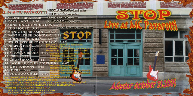 stop cd live at mc pavarotti out