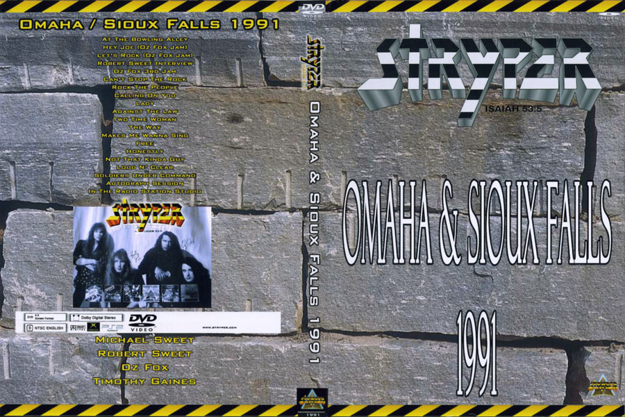 stryper dvd omaha and sioux falls 1991 enlarged front