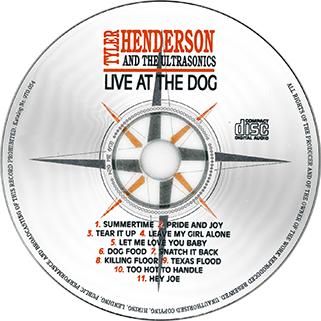 tyler henderson and the ultrasonics cd live at the dog label