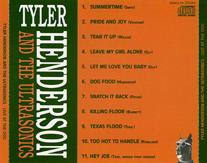 tyler henderson and the ultrasonics cd live at the dog tray