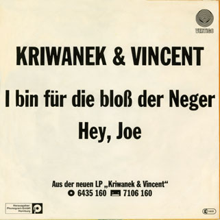 kriwanek and vincent single back cover