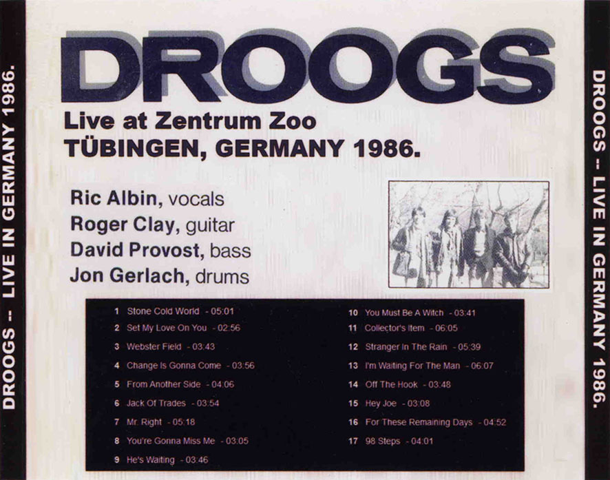 droogs cdr live germany 1986 tray