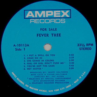 fever tree lp for sale label 1