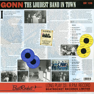 gonn lp loudest band in town back cover