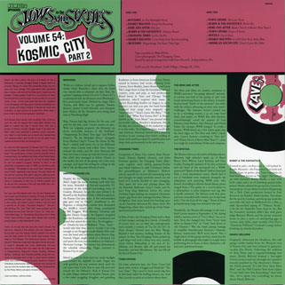 lp lows in mid sixties volume 54 kosmic city part 2 back