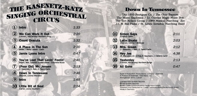 kasenetz katz cd down in tennessee sleeve in