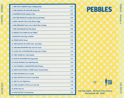 mad sound cd various pebbles volume 4 tray