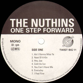 nuthins lp one step forward label 1