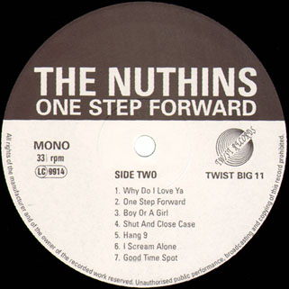 nuthins lp one step forward label 2