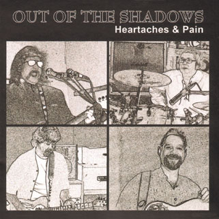 out of the shadows cd heartaches and pain front