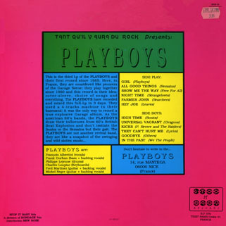 playboys lp girl back cover