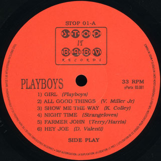 playboys lp girl label A