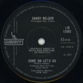 sandy nelson single side come on let's go black label