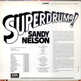 sandy nelson usa lp superdrums back