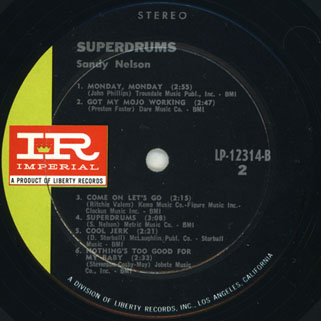 sandy nelson usa lp superdrums label 2