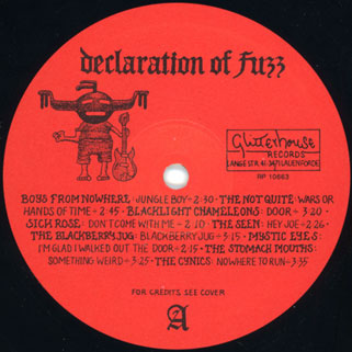 seen lp red declaration of fuzz label 1