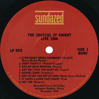 shadows of knigh lp live 1966 label 1