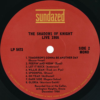 shadows of knigh lp live 1966 label 2