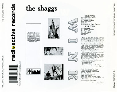shaggs CD wink tray out