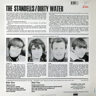 standells lp dirty water stereo eva records 12083 back cover