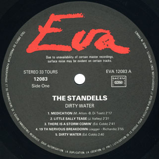 standells lp dirty water stereo eva records 12083 label 1