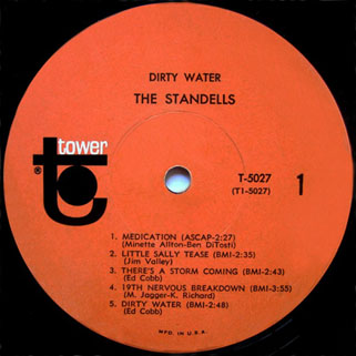 standells lp dirty water tower mono label 1
