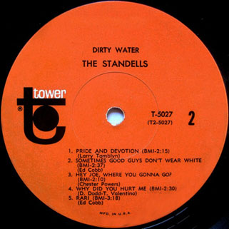 standells lp dirty water tower mono label 2