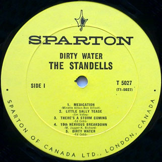 standells lp dirty water sparton mono label 1