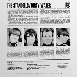standells lp dirty water tower stereo back cover