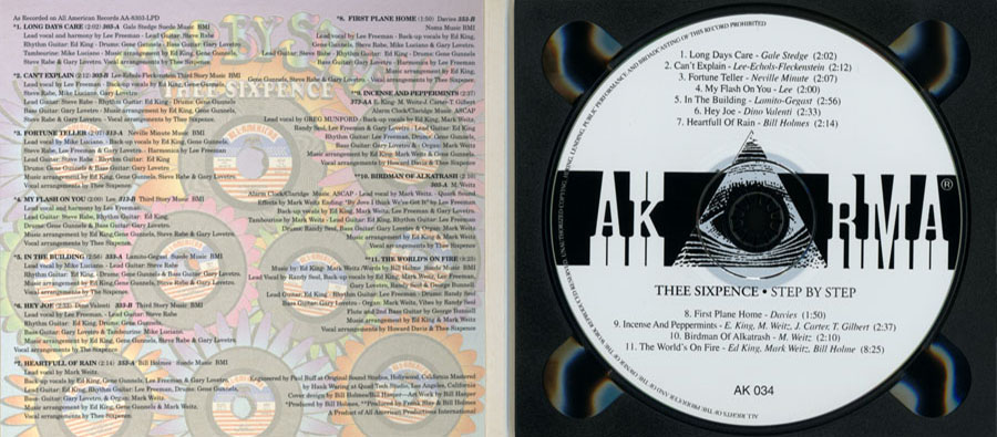 thee sixpence cd step by step in